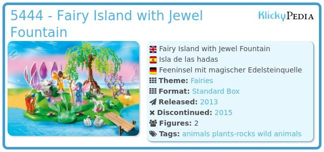 Playmobil 5444 - Fairy Island with Jewel Fountain