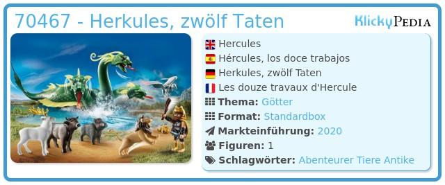 Playmobil 70467 - Herkules, zwölf Taten