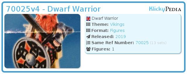 Playmobil 70025v4 - Dwarf Warrior