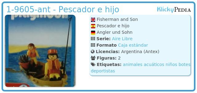 Playmobil 1-9605-ant - Pescador e hijo