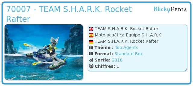 Playmobil 70007 - TEAM S.H.A.R.K. Rocket Rafter