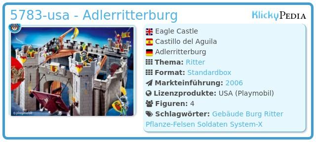 Playmobil 5783-usa - Adlerritterburg