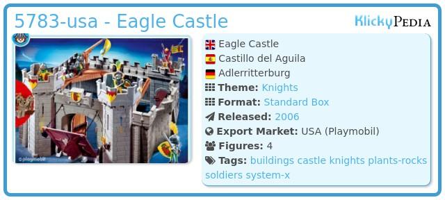 Playmobil 5783-usa - Eagle Castle