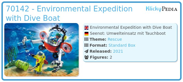 Playmobil 70142 - Environmental Expedition with Dive Boat