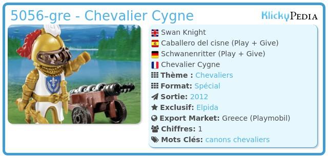 Playmobil 5056-gre - Chevalier Cygne