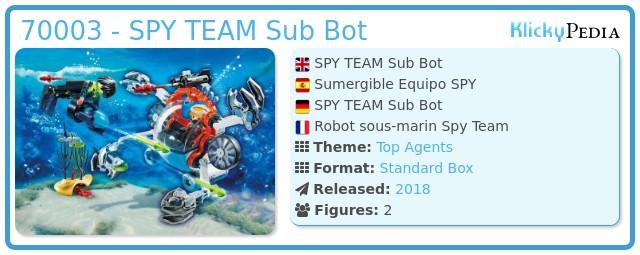 Playmobil 70003 - SPY TEAM Sub Bot