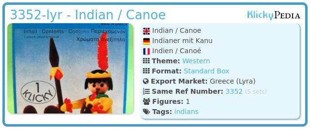 Playmobil 3352-lyr - Indian / Canoe
