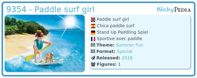 Playmobil 9354 - Paddle surf girl