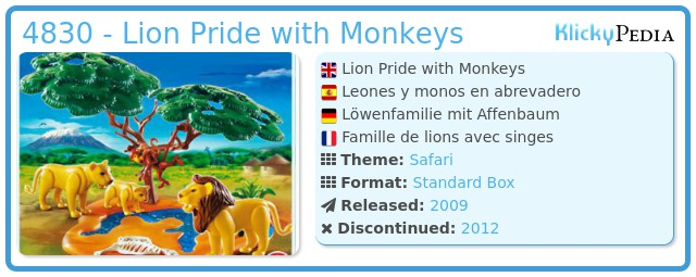 Playmobil 4830 - Lion Pride with Monkeys