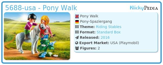 Playmobil 5688-usa - Pony Walk