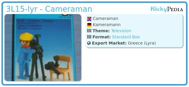 Playmobil 3L15-lyr - Cameraman