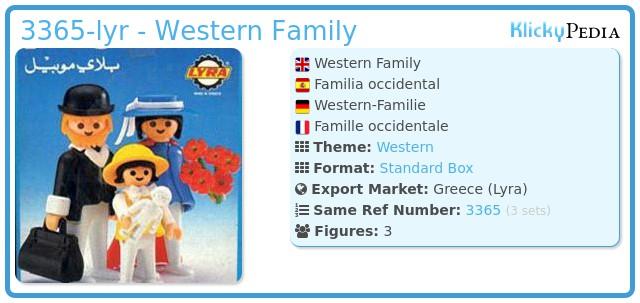 Playmobil 3365-lyr - Western Family