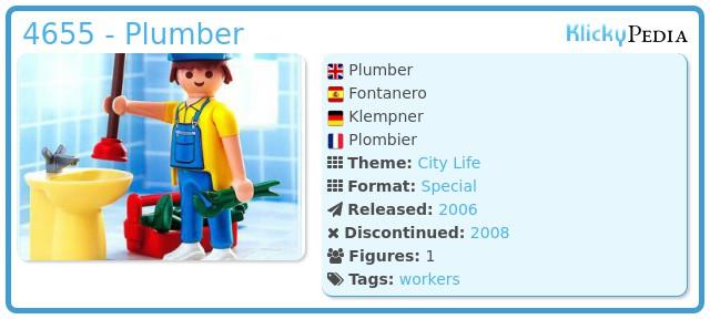 Playmobil 4655 - Plumber