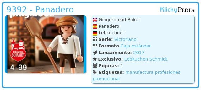 Playmobil 9392-ger - Panadero