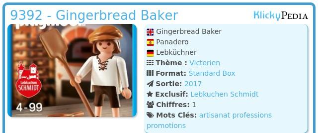 Playmobil 9392-ger - Gingerbread Baker