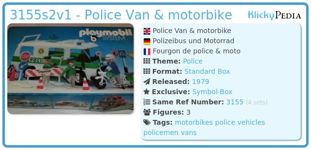 Playmobil 3155s2 - Police Van & motorbike