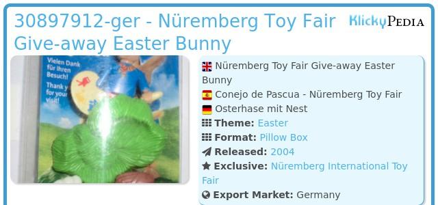 Playmobil 30897912-ger - Nüremberg Toy Fair Give-away Easter Bunny