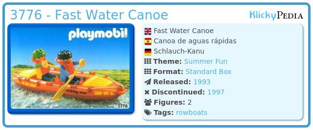 Playmobil 3776 - Fast Water Canoe