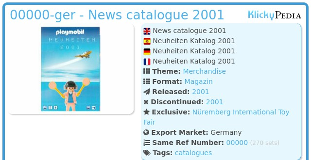 Playmobil 00000-ger - News catalogue 2001