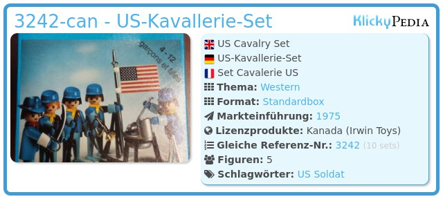 Playmobil 3242-can - US Cavalry Set