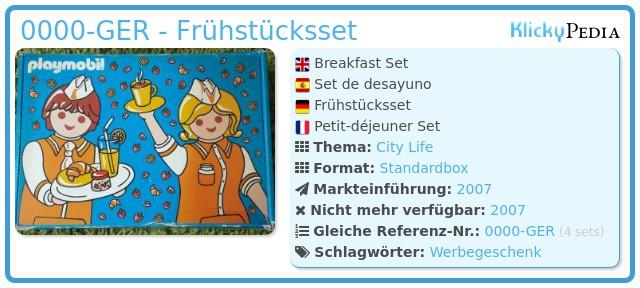 Playmobil 0000-GER - Frühstücksset