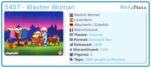 Playmobil 5407 - Washer Woman