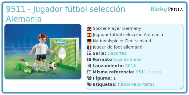 Playmobil 9511 - Jugador fútbol selección Alemania