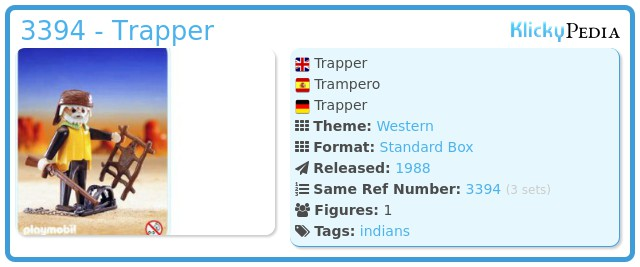 Playmobil 3394 - Trapper