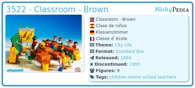 Playmobil 3522 - Classroom - Brown