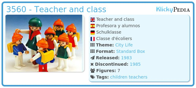 Playmobil 3560 - Teacher and class