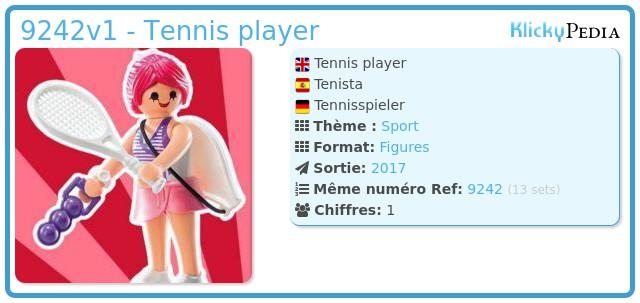 Playmobil 9242v1 - Tennis player