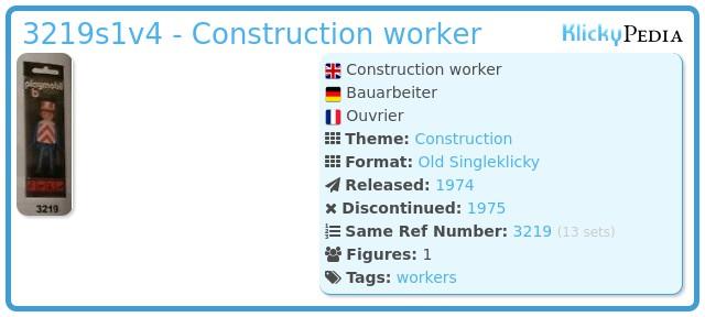 Playmobil 3219s1v4 - Construction worker