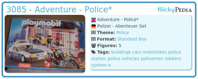 Playmobil 3085 - Adventure - Police*