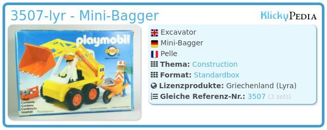 Playmobil 3507-lyr - Mini-Bagger