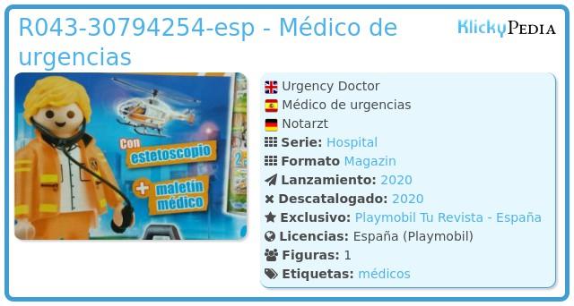 Playmobil R043-30794254 - Médico de urgencias