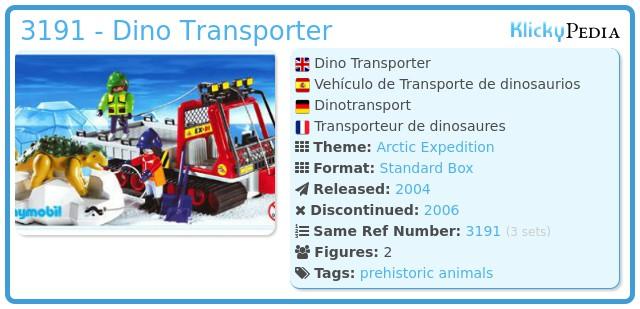Playmobil 3191 - Dino Transporter