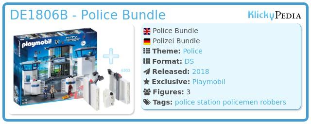 Playmobil DE1806B - Police Bundle