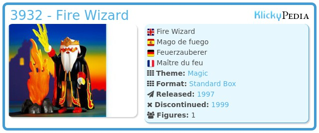 Playmobil 3932 - Fire Wizard