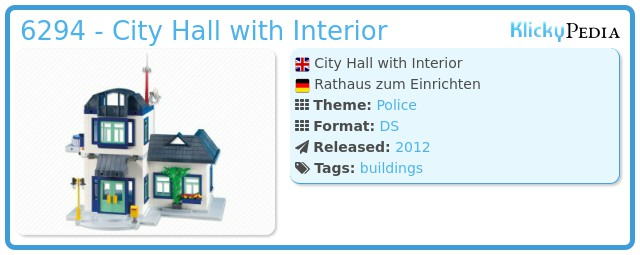 Playmobil 6294 - City Hall with Interior