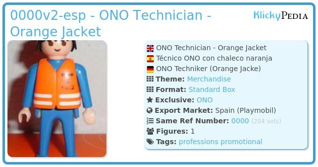 Playmobil 0000v2-esp - ONO Technician - Orange Jacket