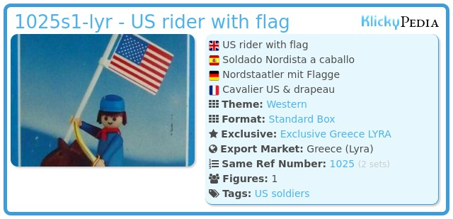 Playmobil 1025-lyr - US rider with flag