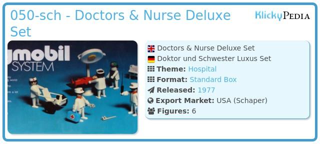 Playmobil 050-sch - Doctors & Nurse Deluxe Set