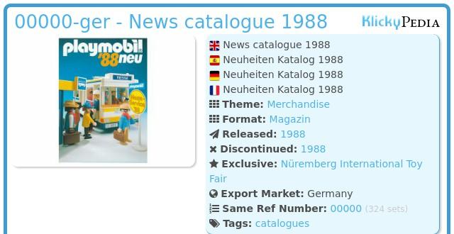Playmobil 00000-ger - News catalogue 1988