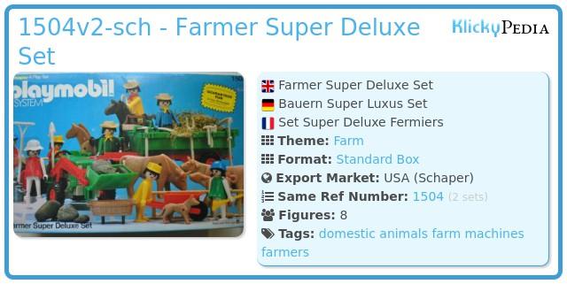 Playmobil 1504v2-sch - Farmer Super Deluxe Set