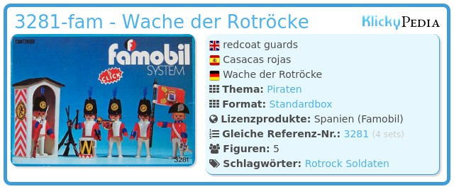 Playmobil 3281-fam - Wache der Rotröcke