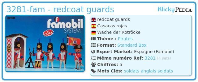 Playmobil 3281-fam - redcoat guards