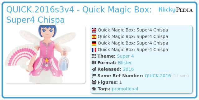 Playmobil QUICK.2016s3v4 - Quick Magic Box: Super4 Chispa