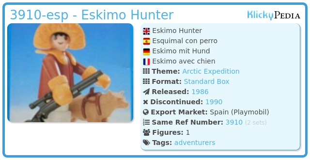 Playmobil 3910-esp - Eskimo Hunter