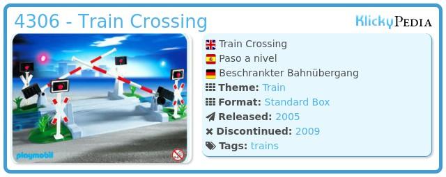 Playmobil 4306 - Train Crossing