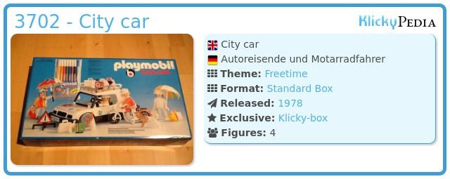 Playmobil 3702 - City car